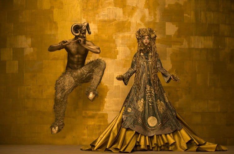 Inge Prader - Photographer Recreates - Gustav Klimt 07