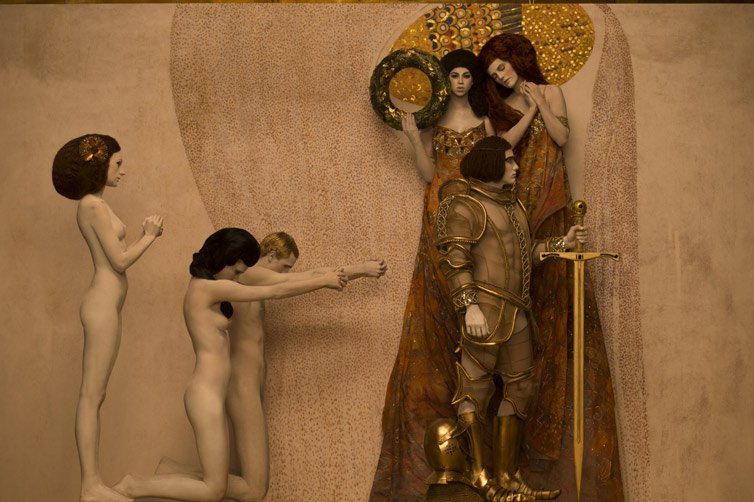 Inge Prader - Photographer Recreates - Gustav Klimt 08