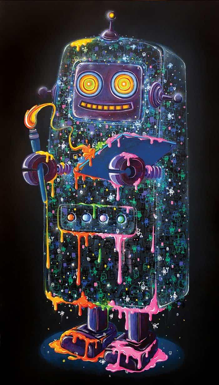 Num - Robot Artist - 36 x 60 - 55