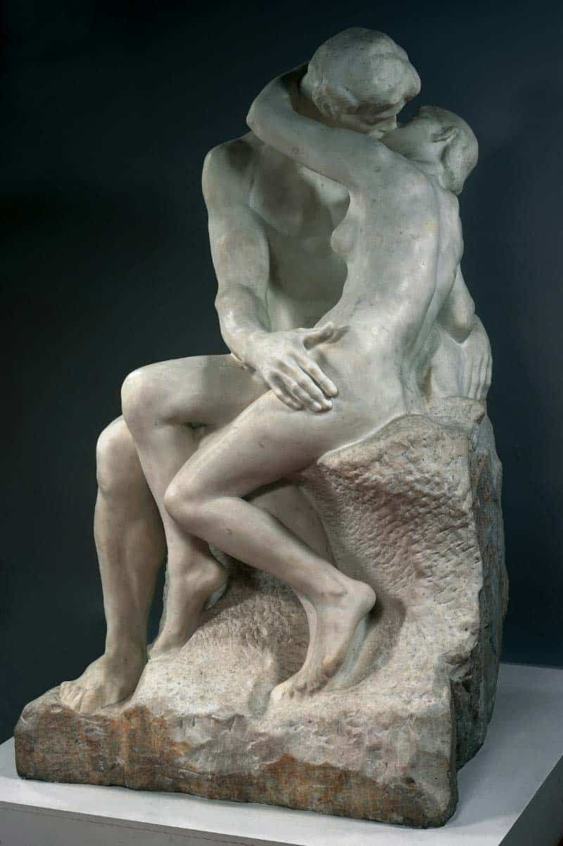 10 Best Kisses in Famous Artworks - Auguste Rodin - The Kiss