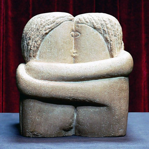 10 Best Kisses in Famous Artworks - Constantin Brancusi - The Kiss