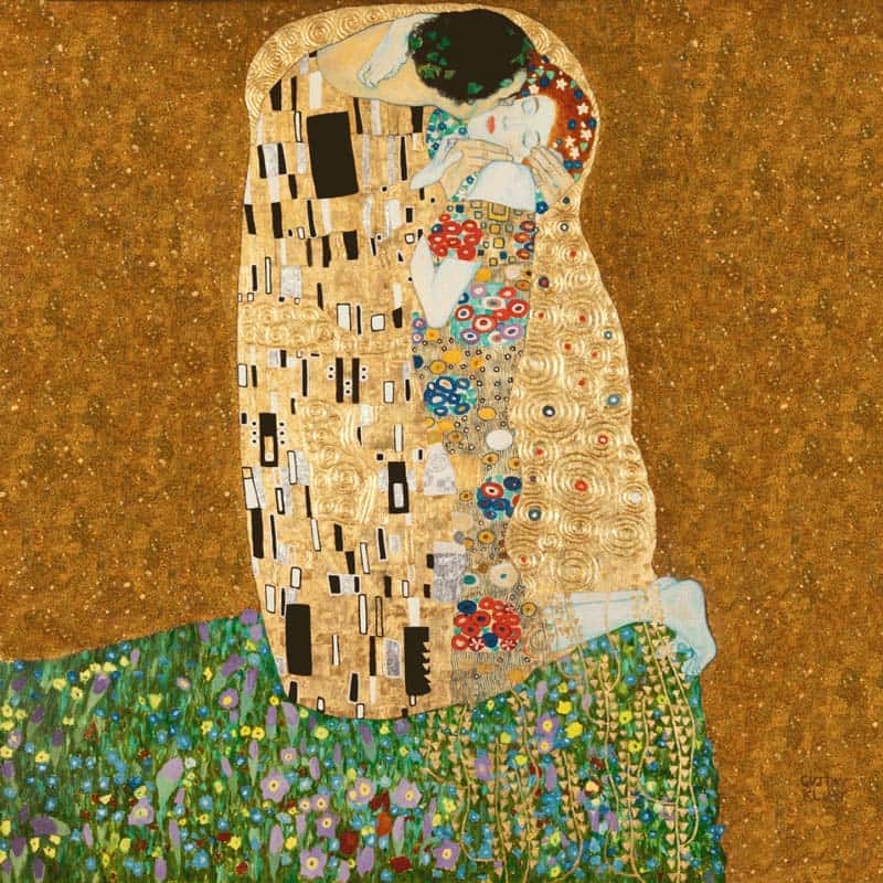 10 Best Kisses in Famous Artworks - Gustav Klimt - The Kiss