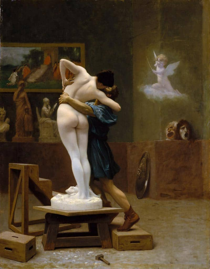 10 Best Kisses in Famous Artworks - Jean-Leon Gerome - Pygmalion and Galatea