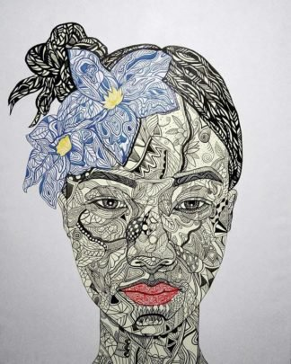 Blue Bird - The Girl With A Flowers On Her Hair 02 - 120 x 150 - 60