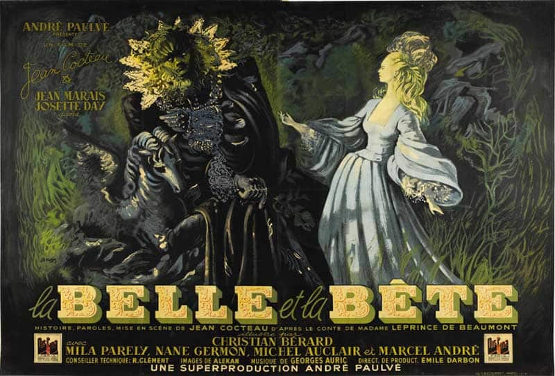 Inspiration – Vintage French Movie Posters - 04 Beauty and the Beast - 1946 - Jean Malclez