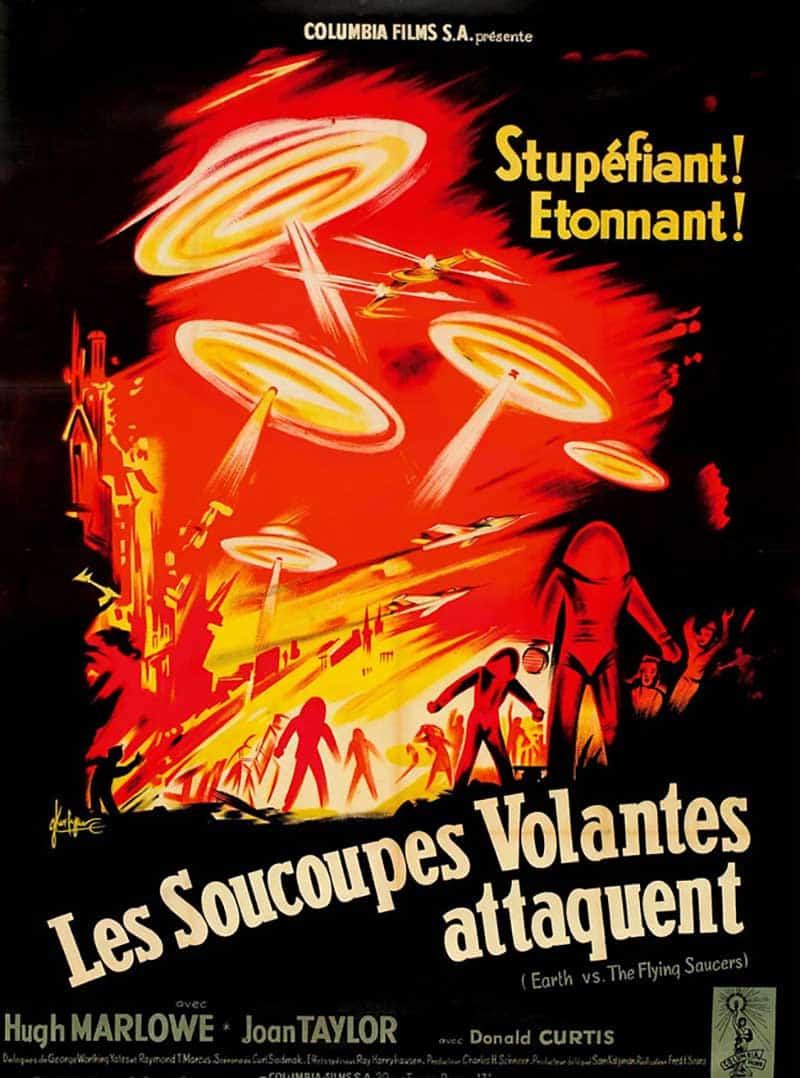 Inspiration – Vintage French Movie Posters - 07 Earth Versus the Flying Saucers Columbia - 1956 - Kerfyser