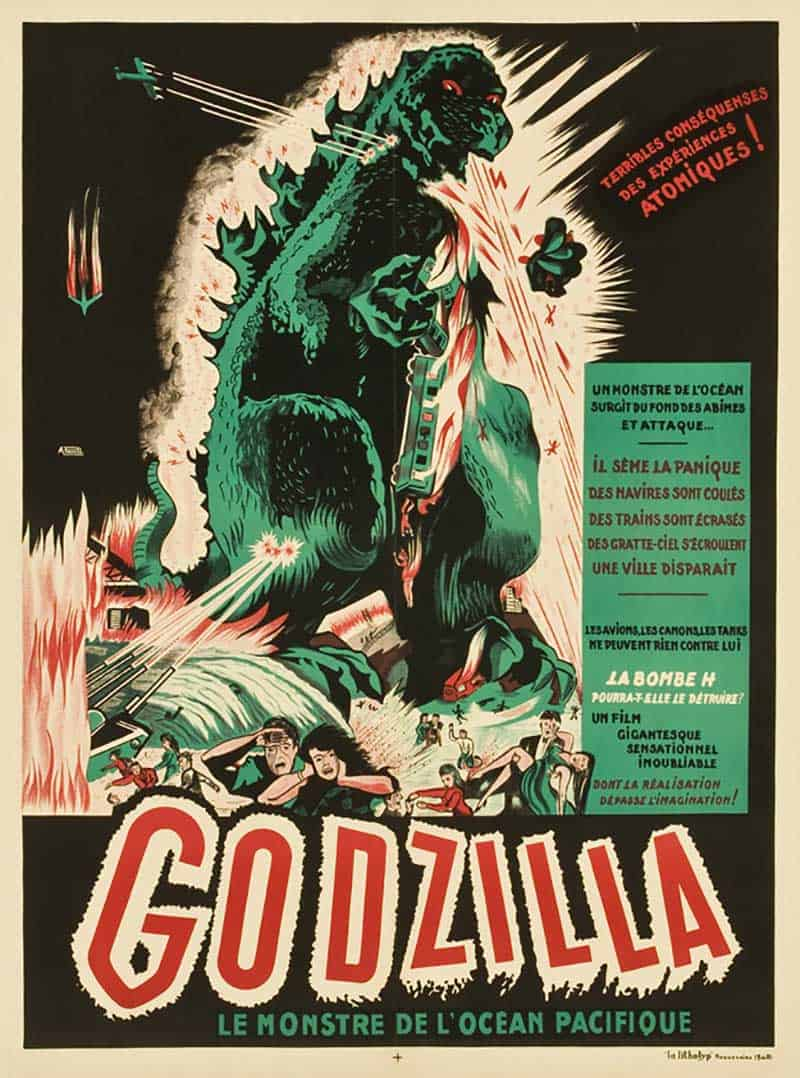 Inspiration – Vintage French Movie Posters - 08 Godzilla - 1956