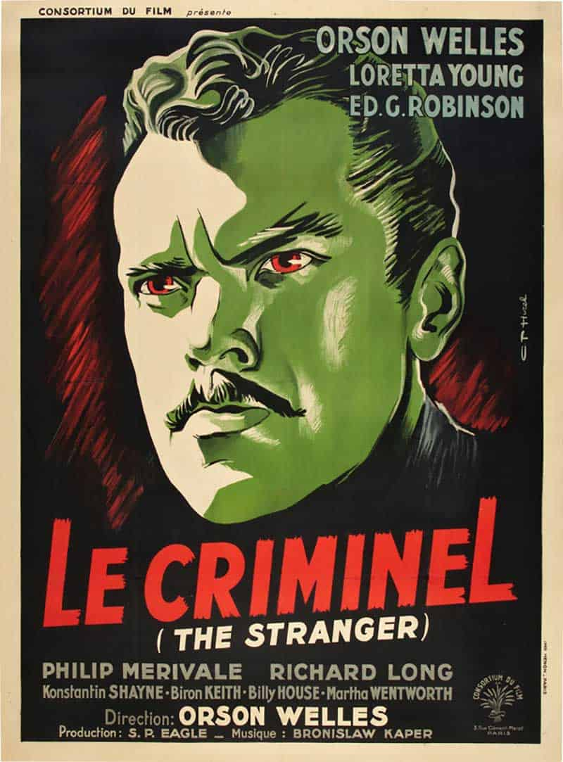 Inspiration – Vintage French Movie Posters - 11 The Stranger - 1945 - Clement Hurel