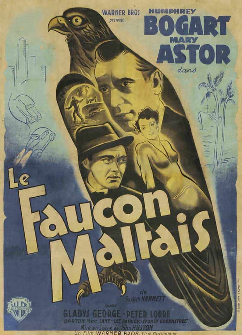 Inspiration – Vintage French Movie Posters - 14 Maltese Falcon - 1941