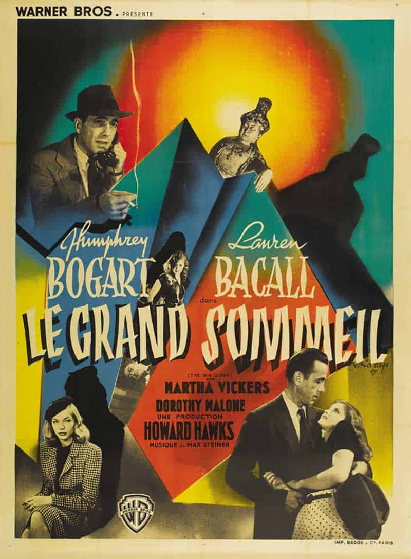 Inspiration – Vintage French Movie Posters - 15 Big Sleep - 1946 - Vincent Cristellys