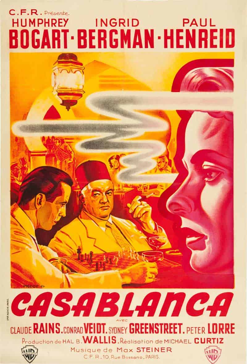 Inspiration – Vintage French Movie Posters - 15 Casablanca - 1940s - Pierre Pigeot