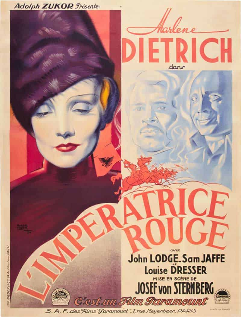 Inspiration – Vintage French Movie Posters - 16 Scarlett Empress - 1934 - Roger Vacher