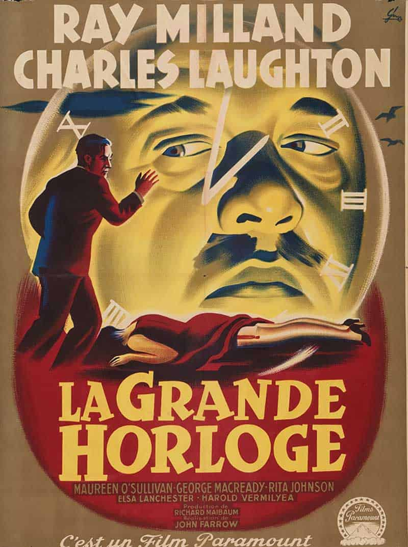 Inspiration – Vintage French Movie Posters - 22 The Big Clock - 1948 - Boris Grisson