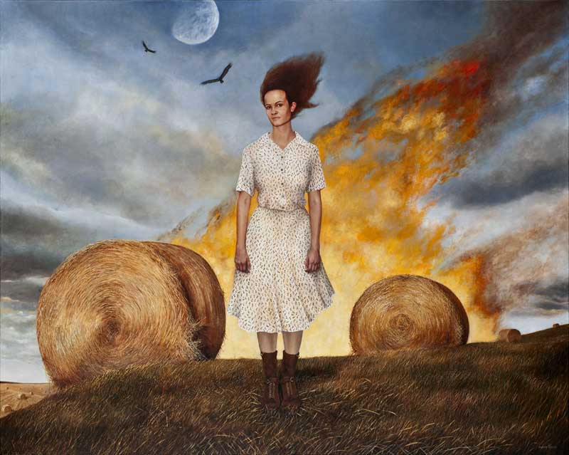 Andrea Kowch - Magic Realism - Midwestern Landscapes 01