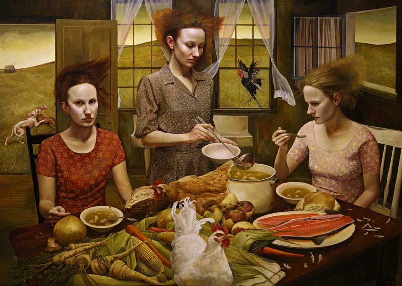 Andrea Kowch - Magic Realism - Midwestern Landscapes 02