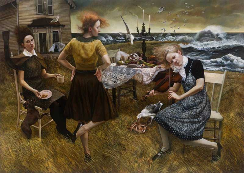 Andrea Kowch - Magic Realism - Midwestern Landscapes 03