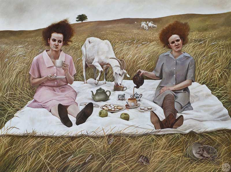 Andrea Kowch - Magic Realism - Midwestern Landscapes 08
