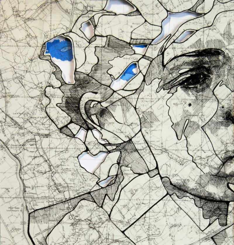 Ed Fairburn - Portraits on Maps 01