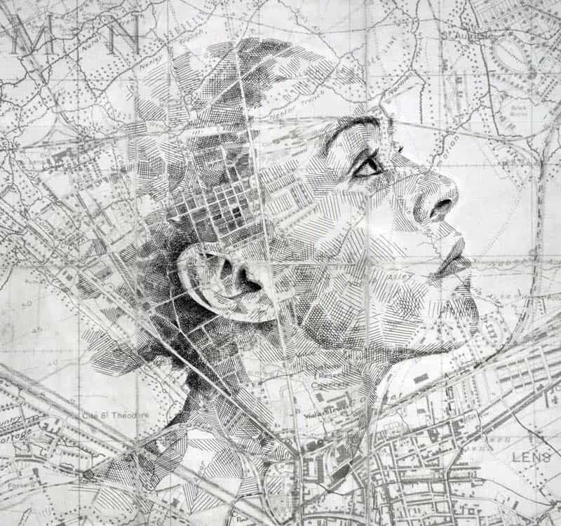 Ed Fairburn - Portraits on Maps 04