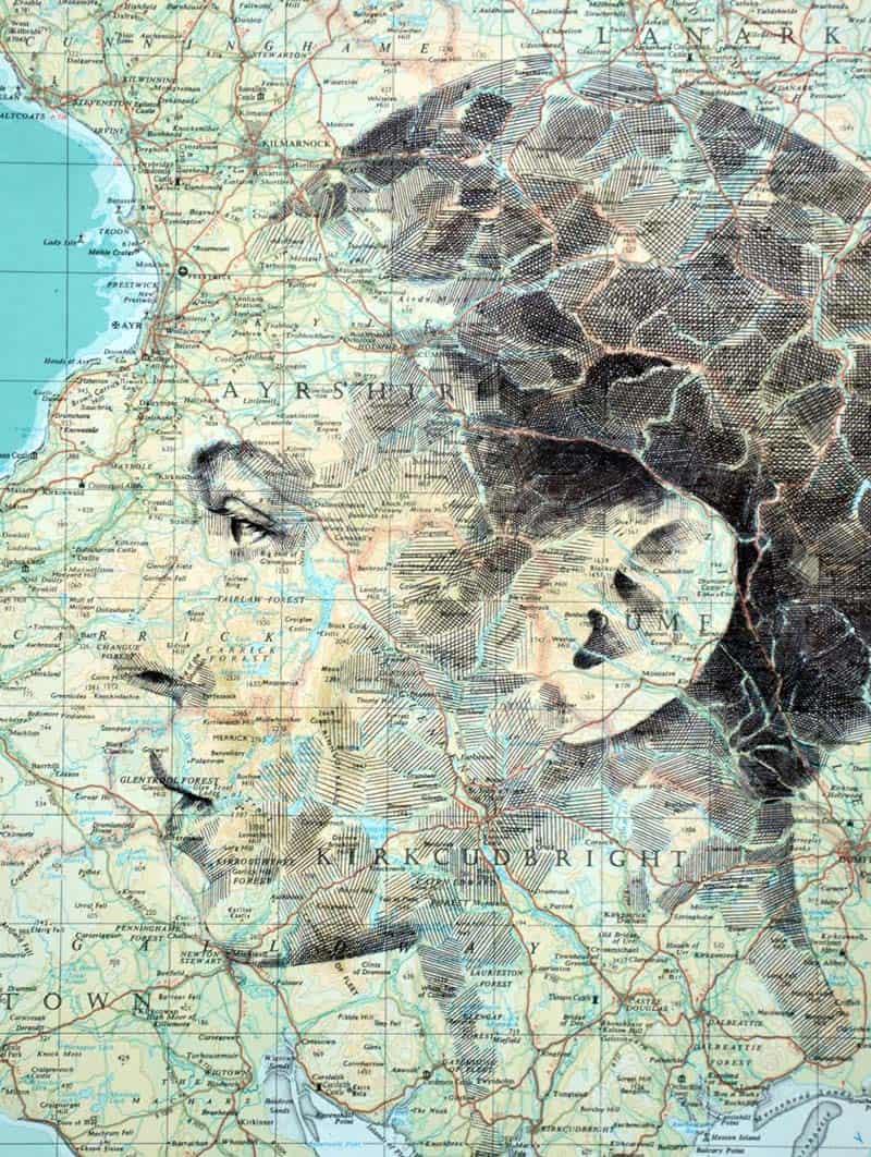 Ed Fairburn - Portraits on Maps 05