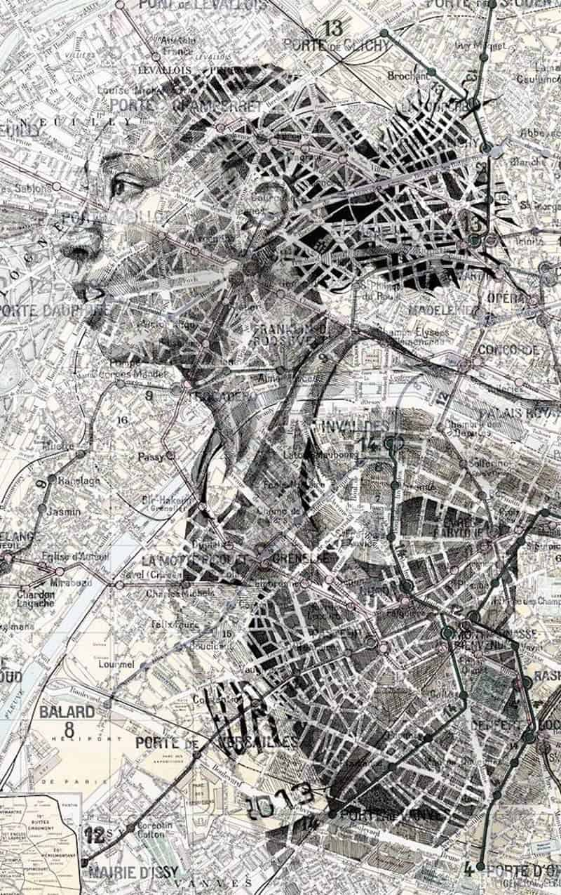Ed Fairburn - Portraits on Maps 06
