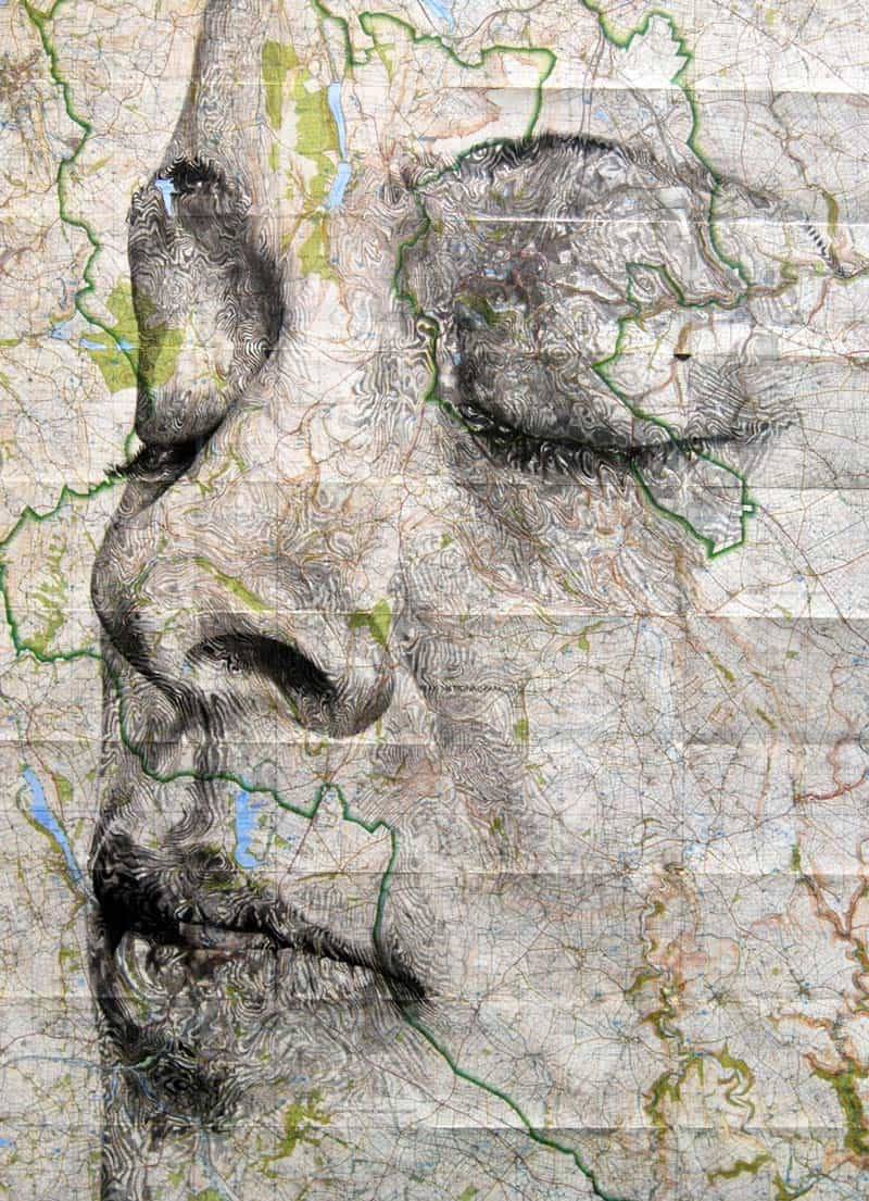 Ed Fairburn - Portraits on Maps 07