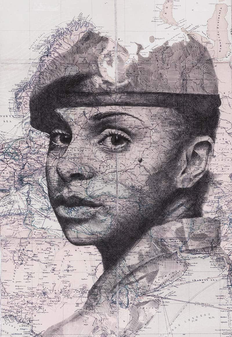 Ed Fairburn - Portraits on Maps 09