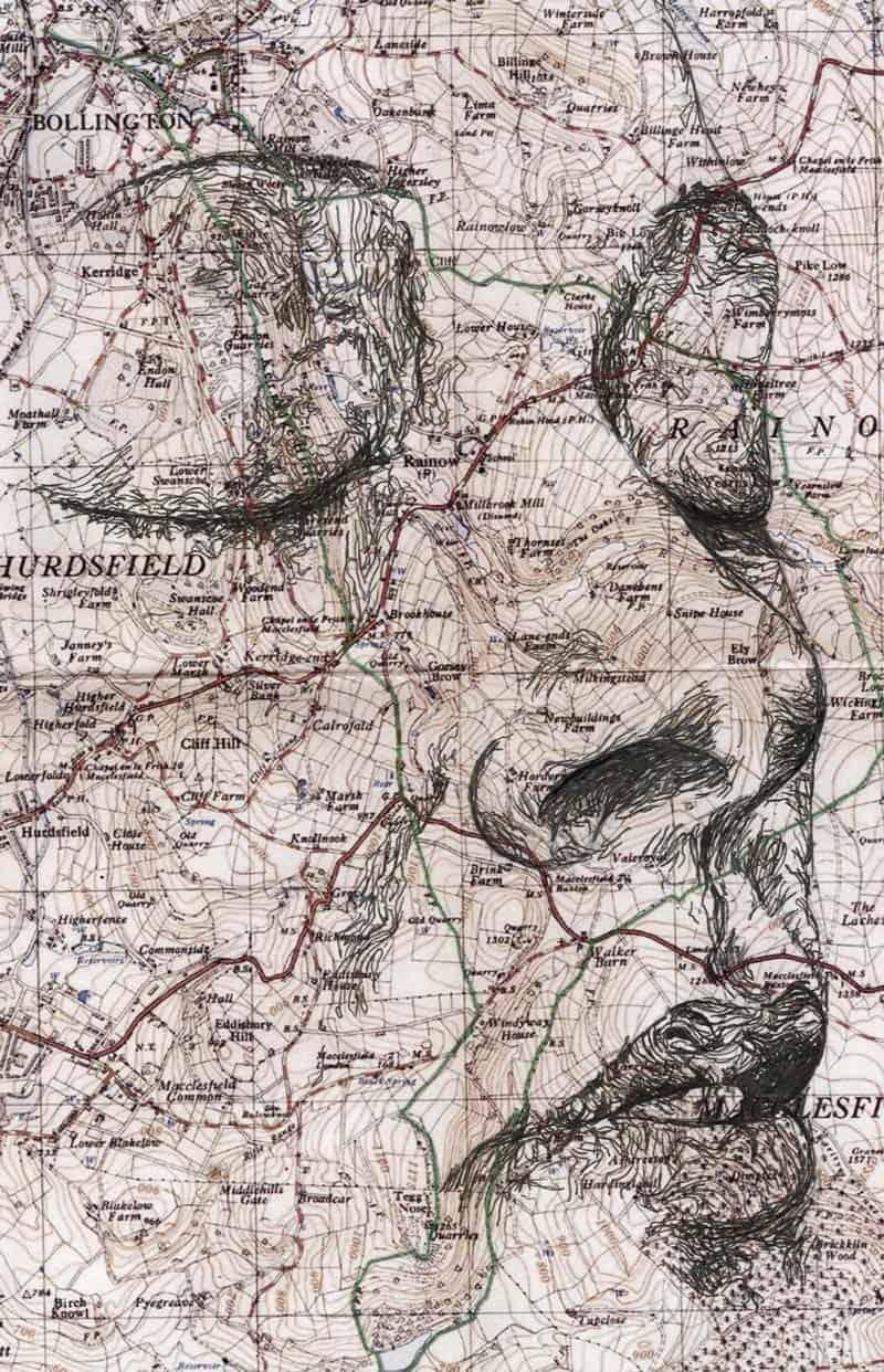 Ed Fairburn - Portraits on Maps 11