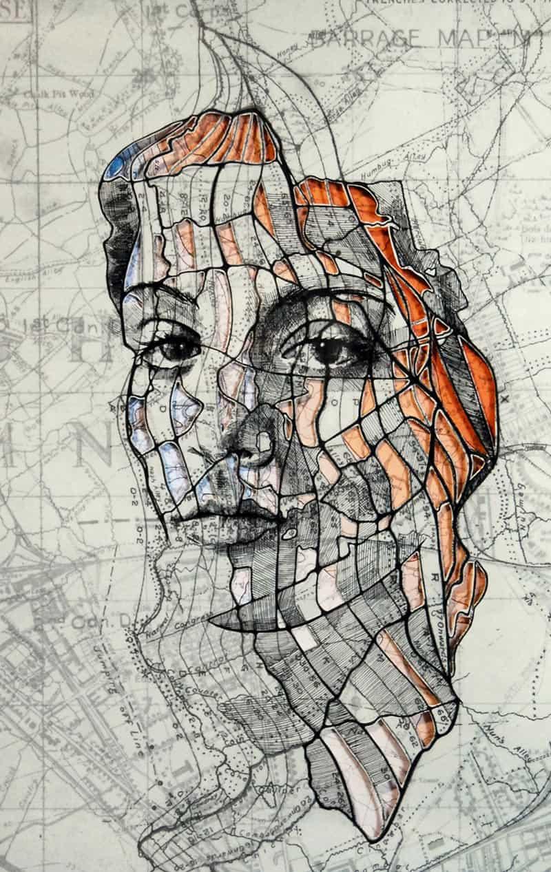 Ed Fairburn - Portraits on Maps 12