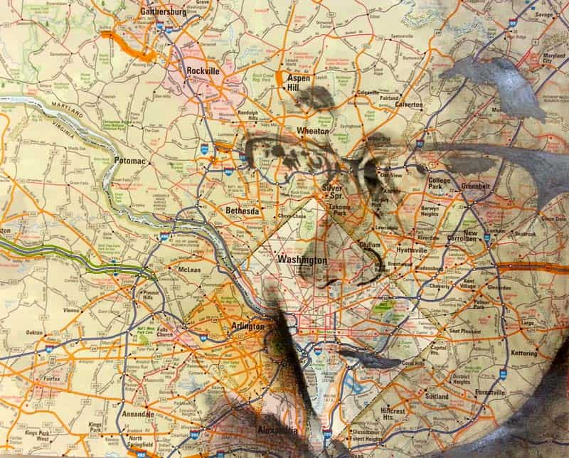 Ed Fairburn - Portraits on Maps 13