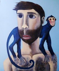 Kitti - Blue Monkey - 80 x 100 - 7