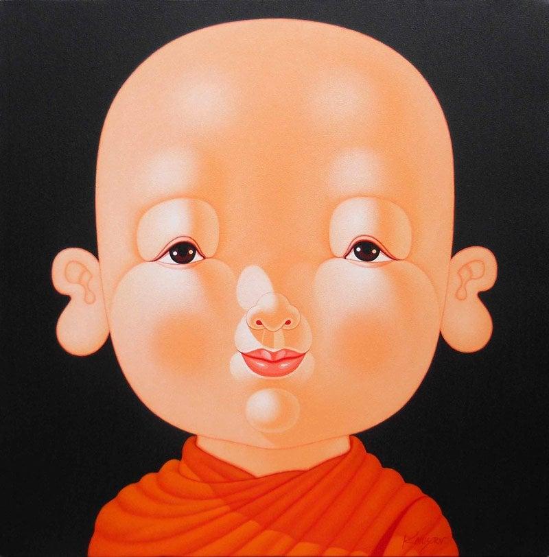 Lek - Child Monk 17 - 120 x 120 - 34