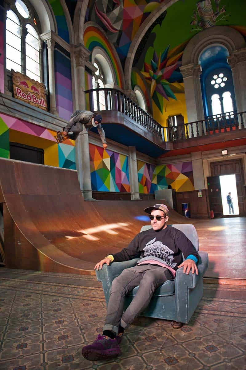 Street Arts - Okuda Paints - Skater Church - Spain 03