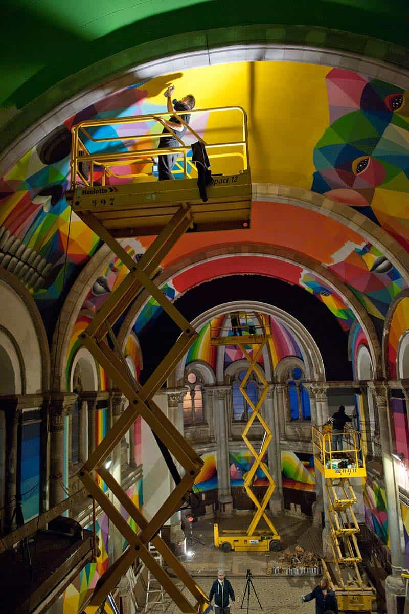 Street Arts - Okuda Paints - Skater Church - Spain 06