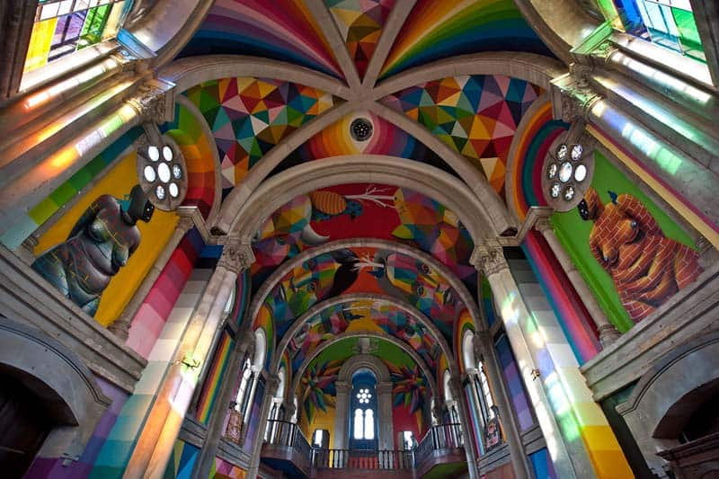 Street Arts - Okuda Paints - Skater Church - Spain 07
