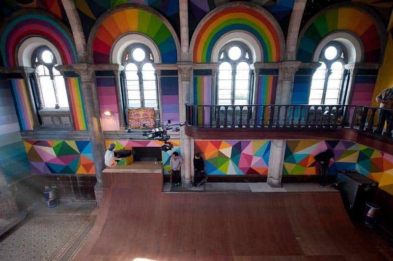 Street Arts - Okuda Paints - Skater Church - Spain 08