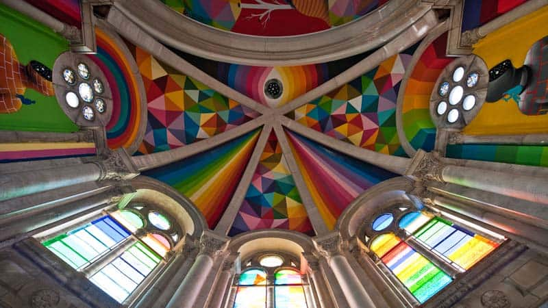 Street Arts - Okuda Paints - Skater Church - Spain 12