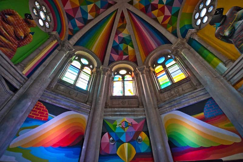 Street Arts - Okuda Paints - Skater Church - Spain 13
