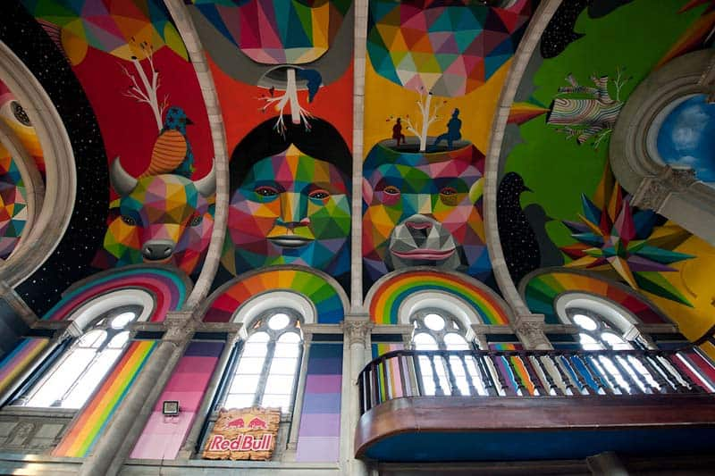 Street Arts - Okuda Paints - Skater Church - Spain 14