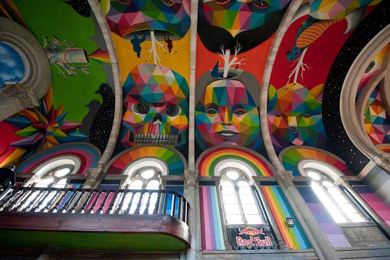 Street Arts - Okuda Paints - Skater Church - Spain 15