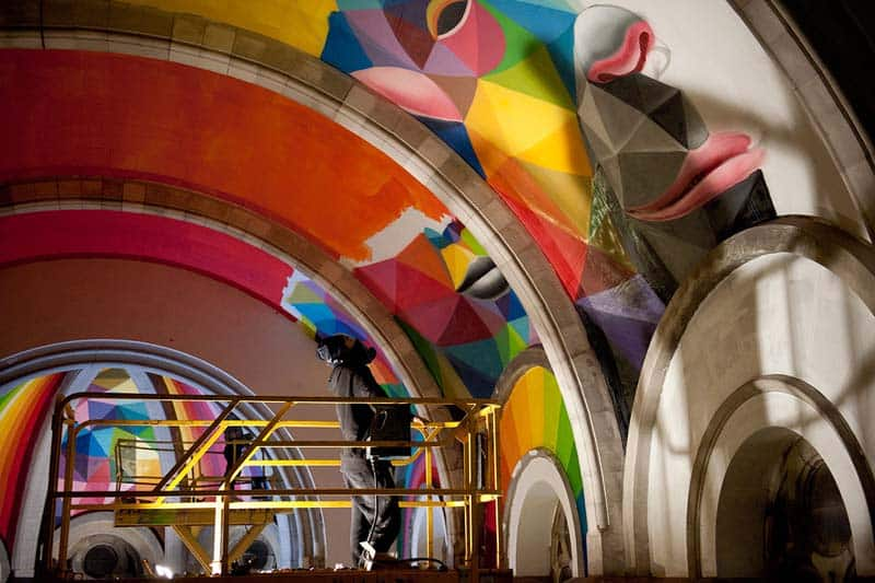 Street Arts - Okuda Paints - Skater Church - Spain 18