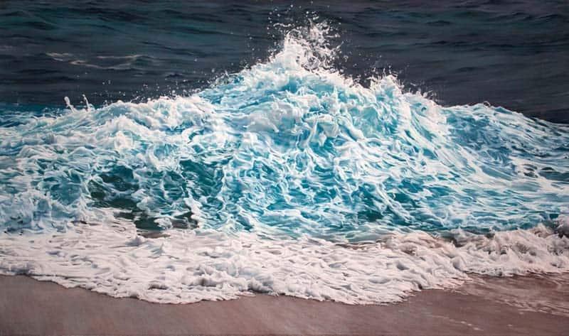Zaria Forman - Icebergs in Pastel 01
