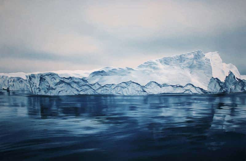 Zaria Forman - Icebergs in Pastel 02