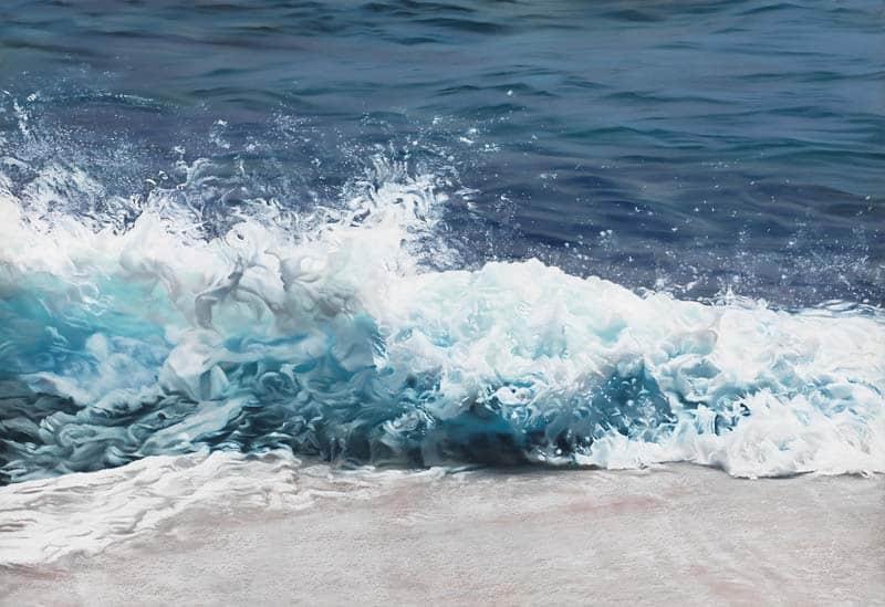 Zaria Forman - Icebergs in Pastel 03