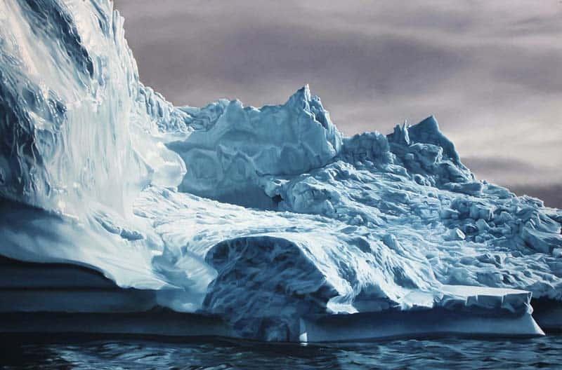 Zaria Forman - Icebergs in Pastel 04