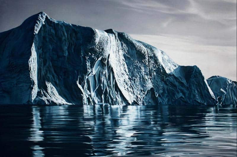 Zaria Forman - Icebergs in Pastel 06