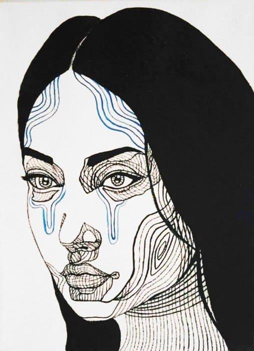 Blue Bird - Girl Portrait 03 - 30 x 40 - 3-5