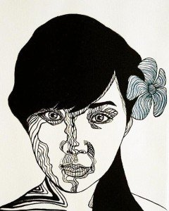 Blue Bird – Girl Portrait 05 – 30 x 40 – 3-5