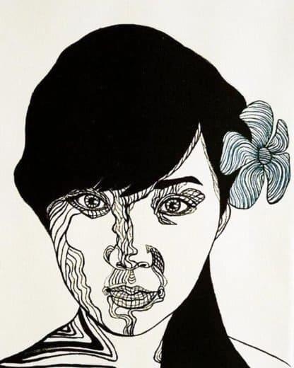 Blue Bird - Girl Portrait 05 - 30 x 40 - 3-5