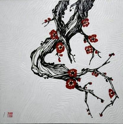 Blue Bird - Plum Blossoms 02 - 100 x 100 - 15